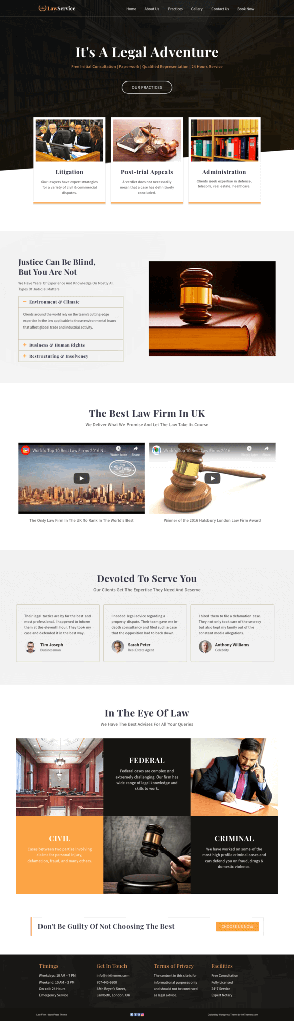Law Firm Home Page