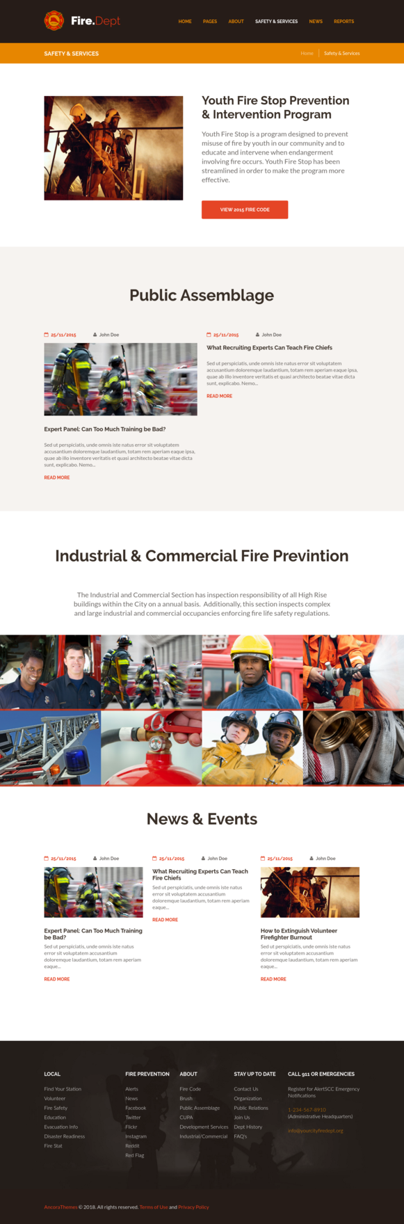 Safety Services Page