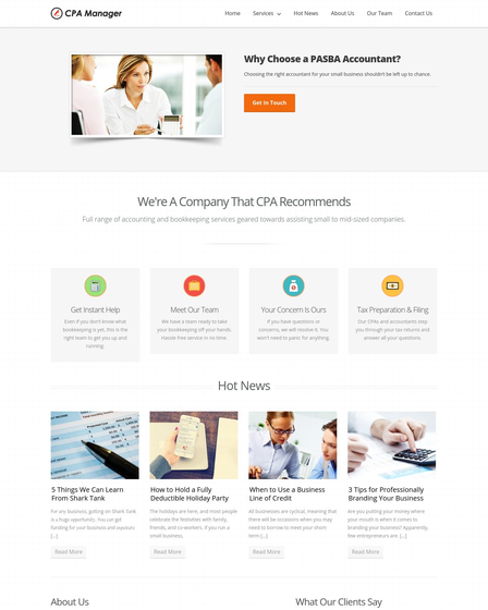 bookkeeping website templates for wordpress inkthemes