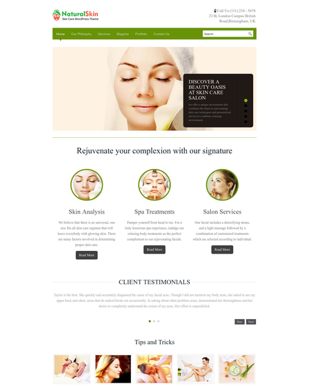 4 Skincare Website Templates For Wordpress Inkthemes