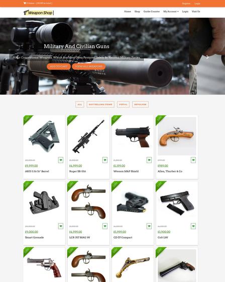 Wordpress Theme For Weapons Gun Shop Inkthemes
