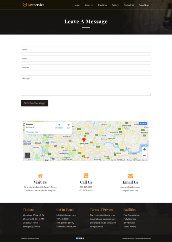Contact Us Page Preview