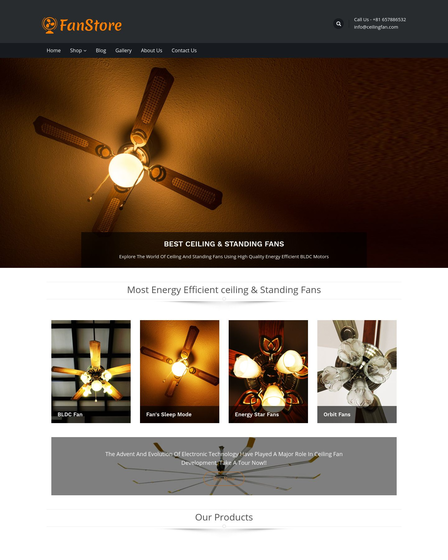 Ceiling And Standing Fans Sale Wordpress Theme Template Inkthemes