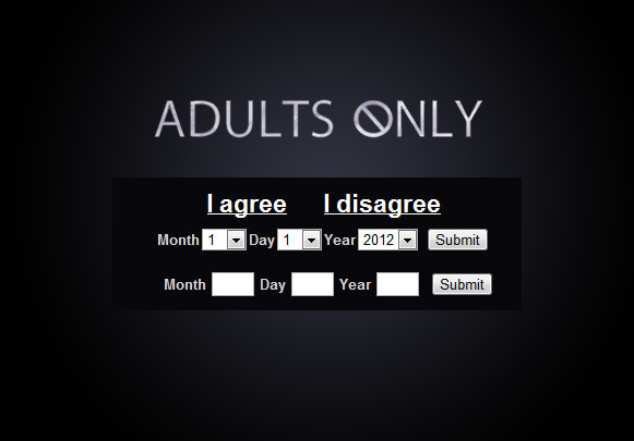 Example - Adults Only Age Verification Plugin