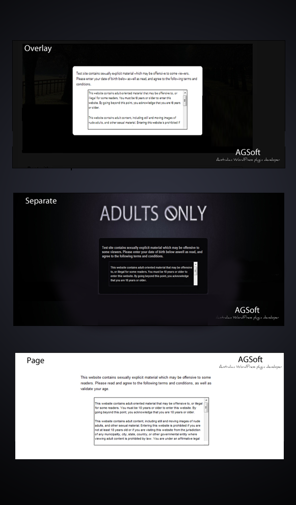 Templates - Adults Only Age Verification Plugin