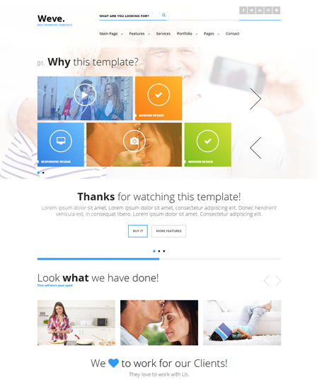 Metro Style WordPress Theme