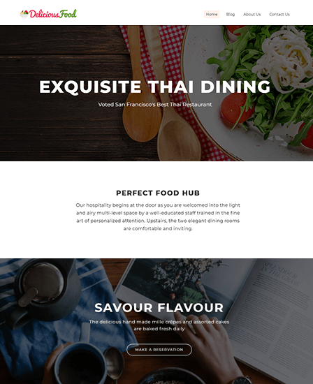 DeliciousFood- Restaurant WordPress Theme