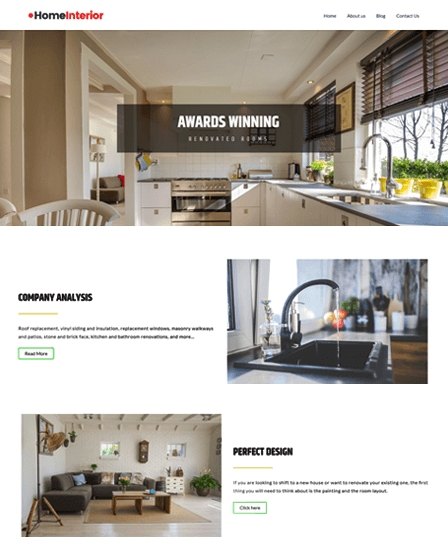 Home Interior WP Theme