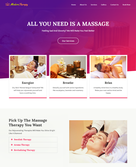 Massage Therapy WordPress Theme