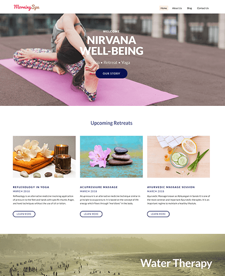 Morning Spa WP Theme