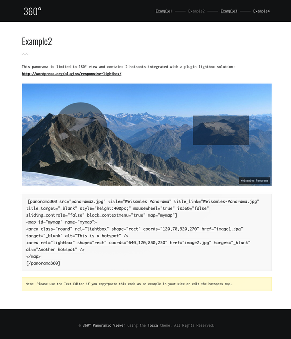 Panorama Image Example 2 - Panoramic Image Viewer Plugin