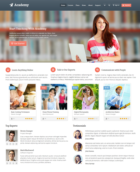 Academy Learning Management WordPress Theme