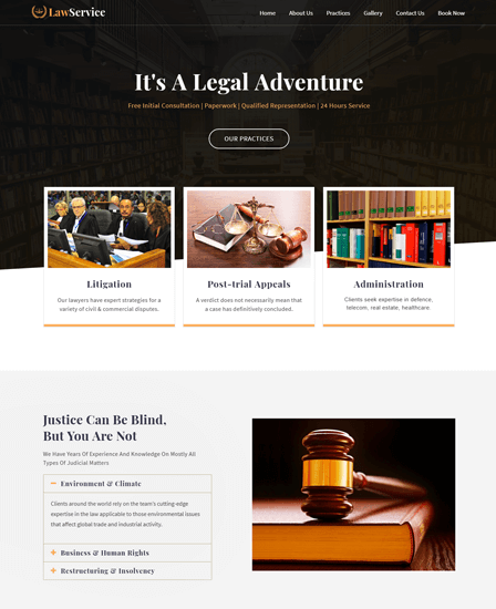 Law Firm & Business WordPress Theme Thumb Image
