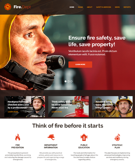Fire Department And Security WordPress Theme