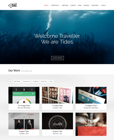 Tides Onepage WordPress Theme