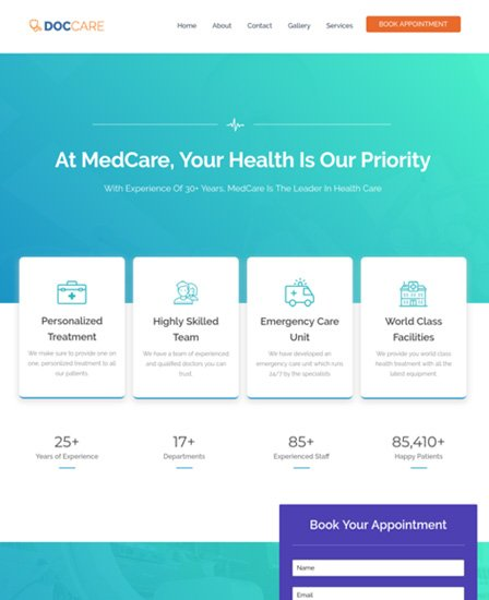 Medical WordPress Theme For Doctors & Hospitals Thumb Image