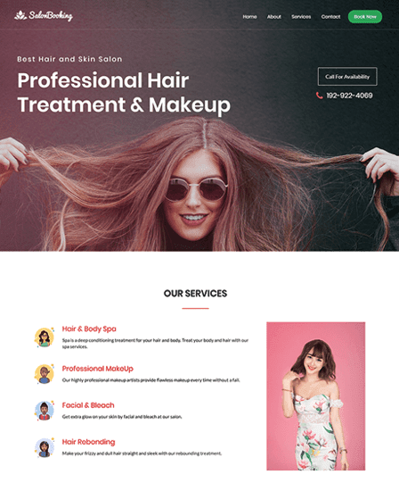 Salon Booking - Salon WordPress Theme Thumb Image