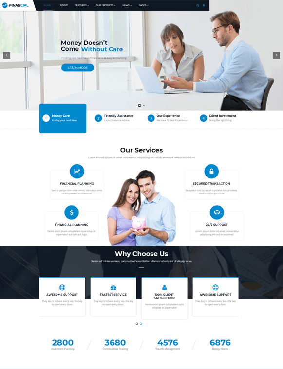 Home - Finance Business WordPress Theme