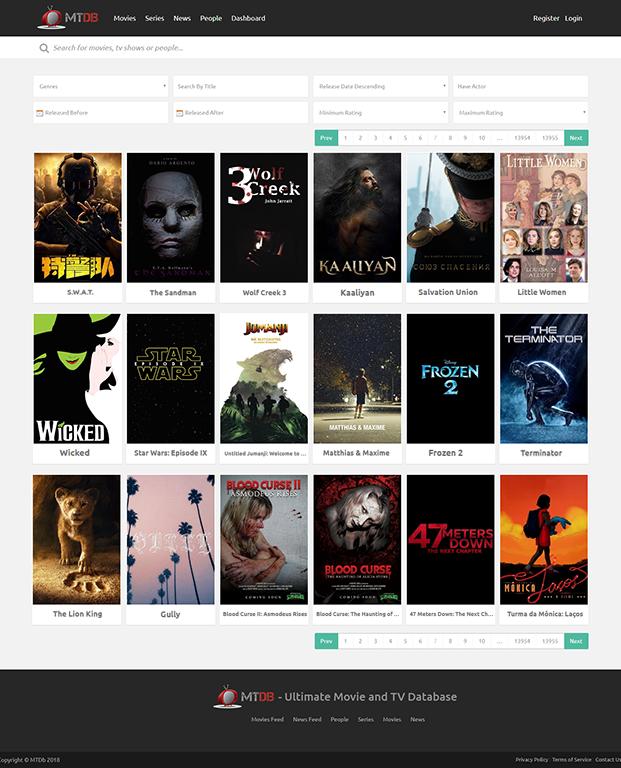 MTDb Movie PHP Script