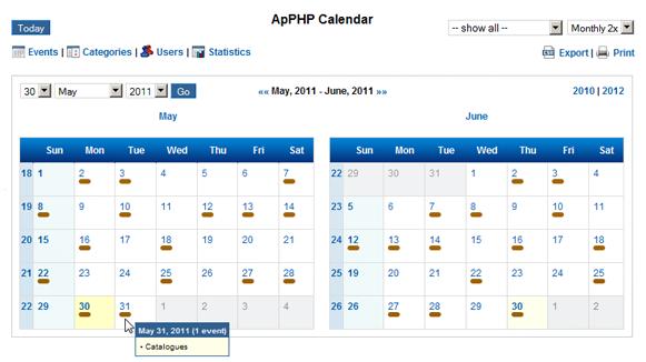 Multiple Calendar