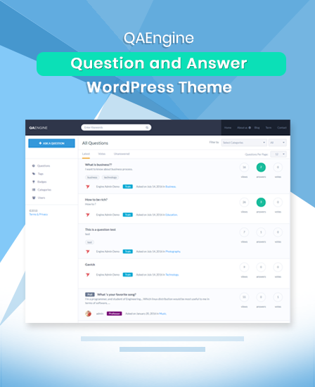 Question And Answer WordPress Theme