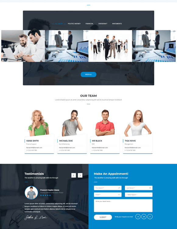 Team - Finance Business WordPress Theme