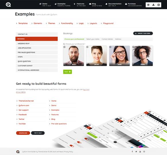Bookings - Quform WordPress Form Plugin