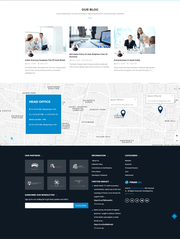Services - Finance Business WordPress Theme