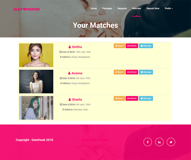 Matches - Dating PHP Script