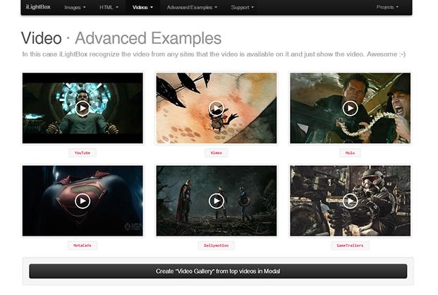 Advanced Example - iLightBox WordPress Plugin