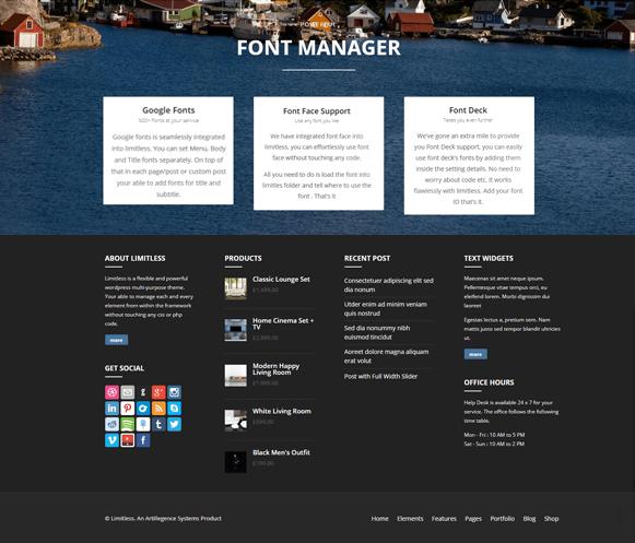 Font Manager - WordPress Multipurpose Theme