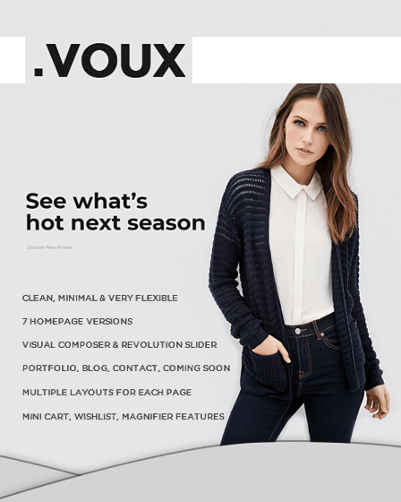 Voux - Modern Fashion Store WordPress Theme