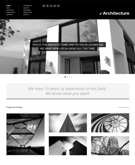 Architecture - WordPress Theme For Architects & Designers