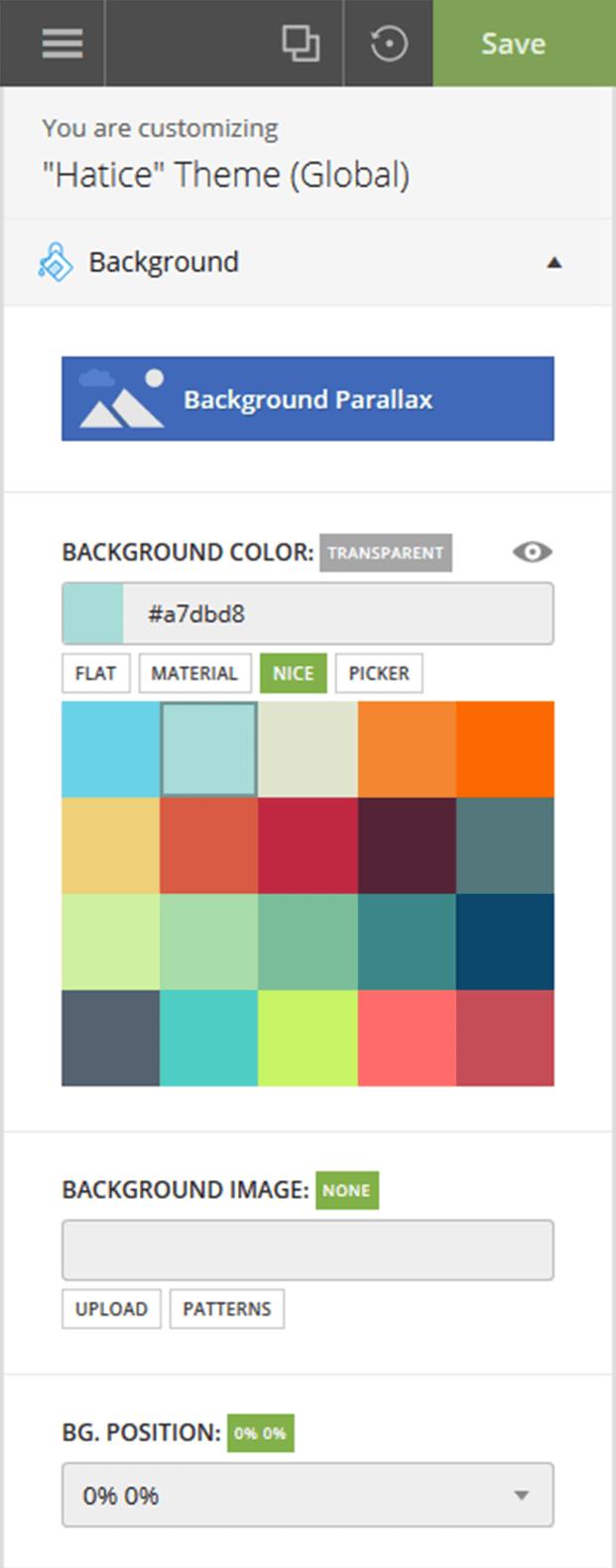 Background color change