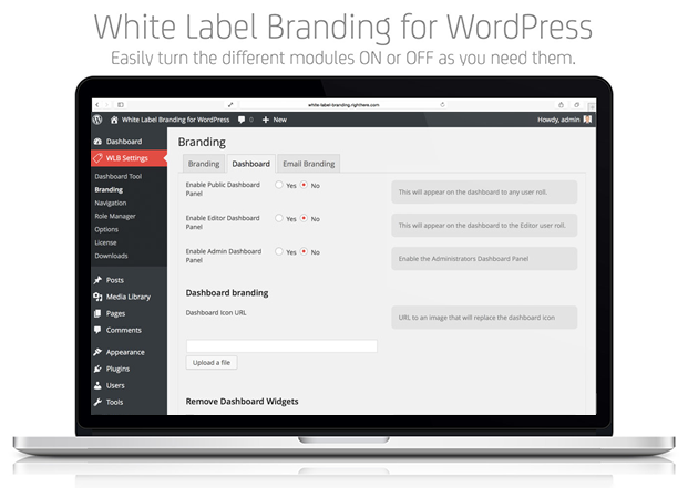 Branding Dashboard - White Label Branding Plugin
