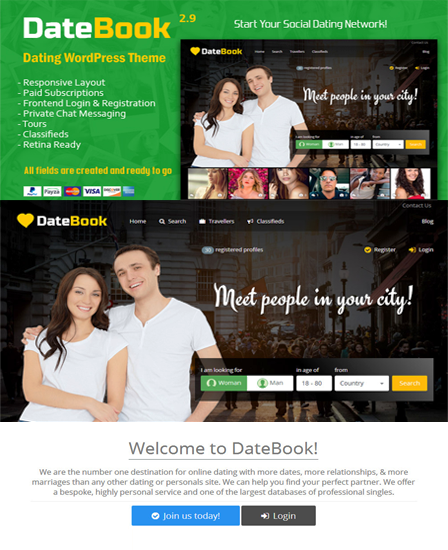 Date Book WordPress Theme