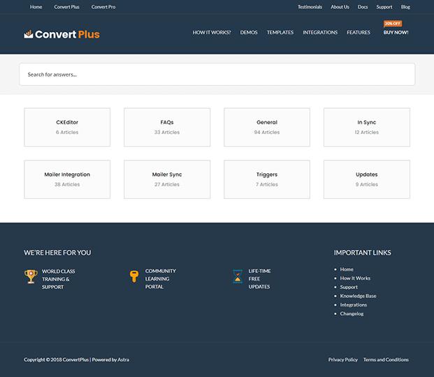 Convert Plus Popup Plugin - Docs