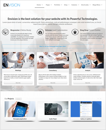 Envision Best Multi Purpose WordPress Theme