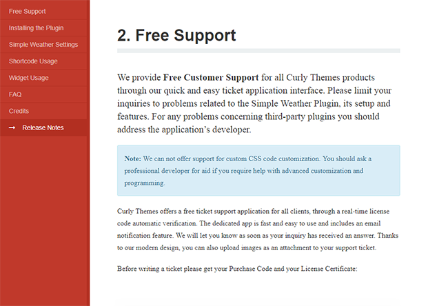 Simple Weather - Free Support