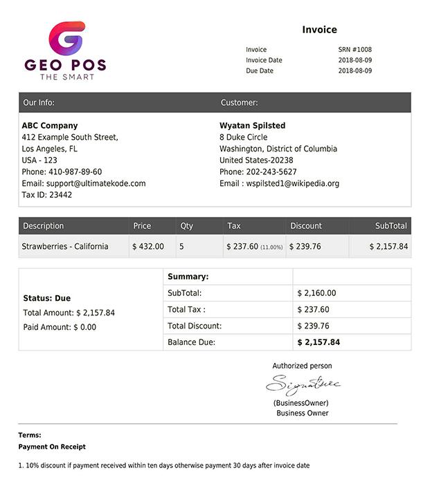 Geo Invoice