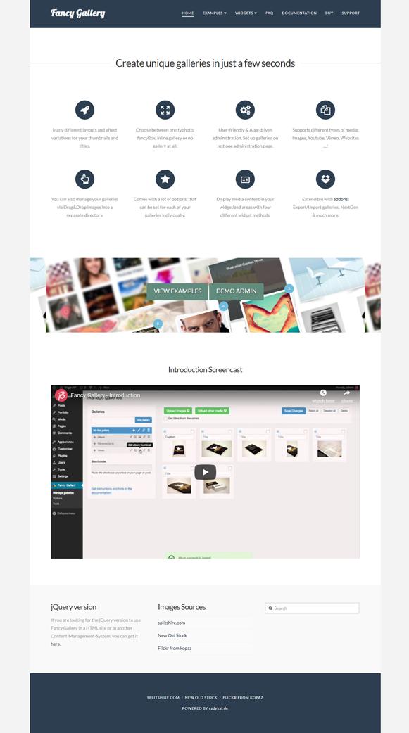 Home - Fancy Gallery WordPress Plugin