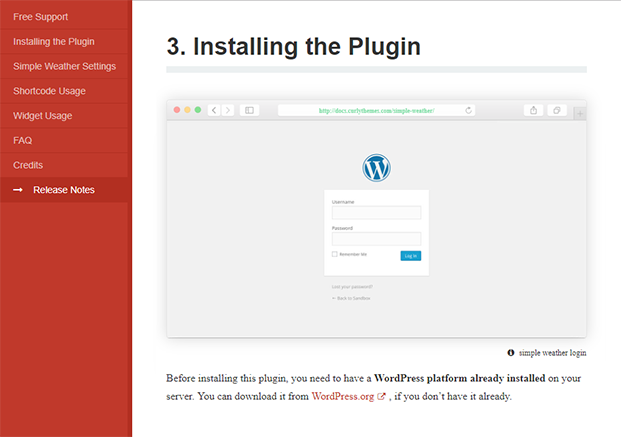 Simple Weather - Installing the Plugin