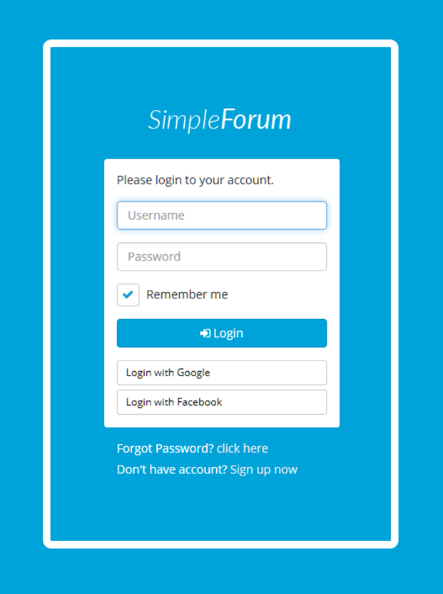 Login Account - Simple Forum Questions And Answers Plugin