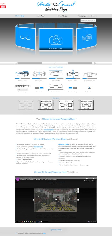 Ultimate 3D Carousel WordPress Plugin - Modern Silver