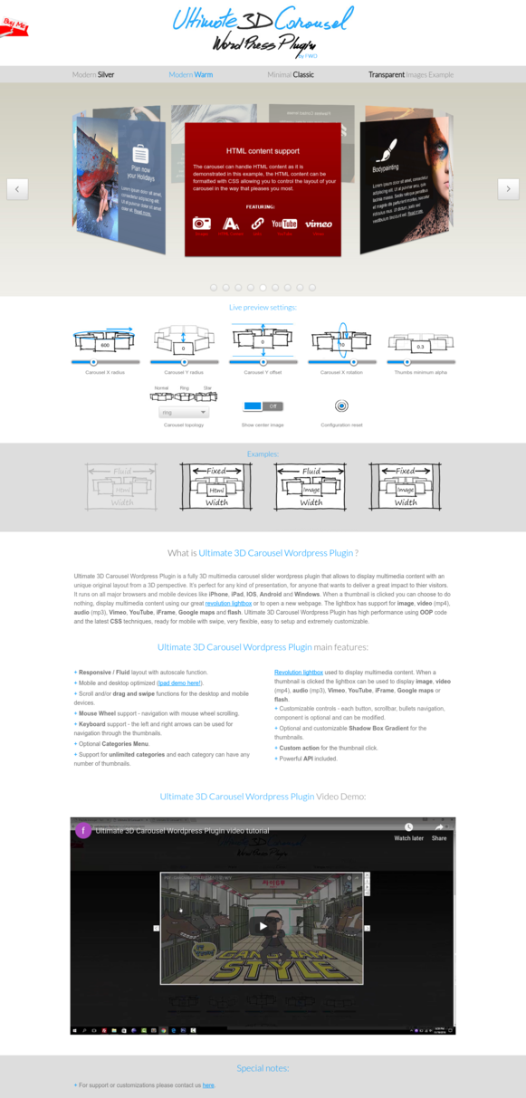 Ultimate 3D Carousel WordPress Plugin - Modern Warm