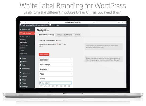 Navigation - White Label Branding Plugin