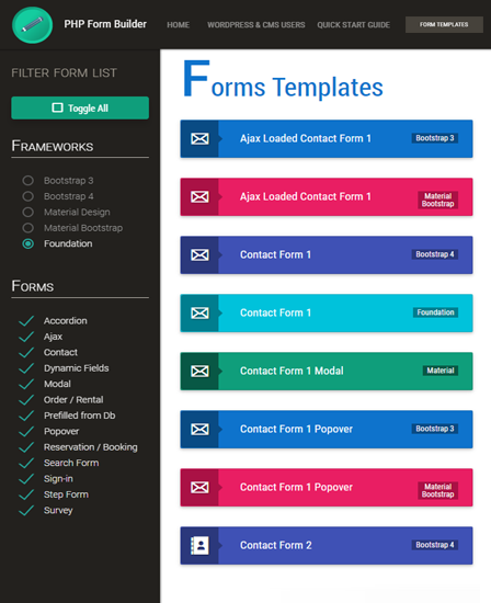 Form Builder PHP Script