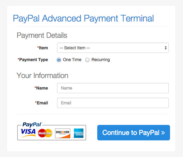 Frontend- PayPal Advanced Payment Gateway- PHP Script