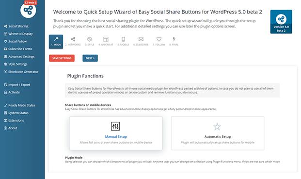 Plugin Function - Social Share Buttons Plugin