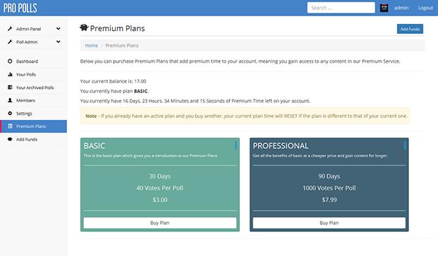 Premium Plans